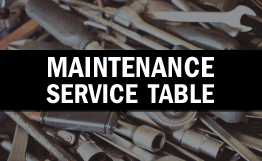 Maintenance Service Table