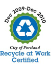 Marque Motors is Recycle At Work Certified by City of Portland.